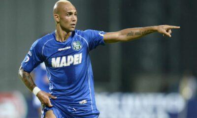 Simone Zaza attaccante del Sassuolo. Peggiore in campo di Catania-Sassuolo