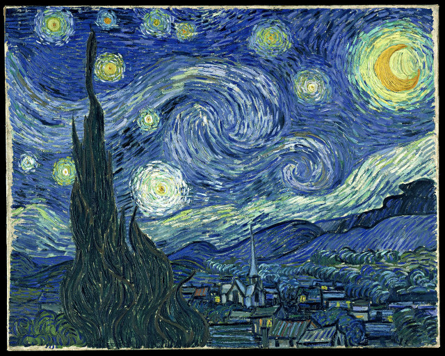 Vincent Van Gogh, Notte stellata, 1889, New York, The Museum of Modern Art