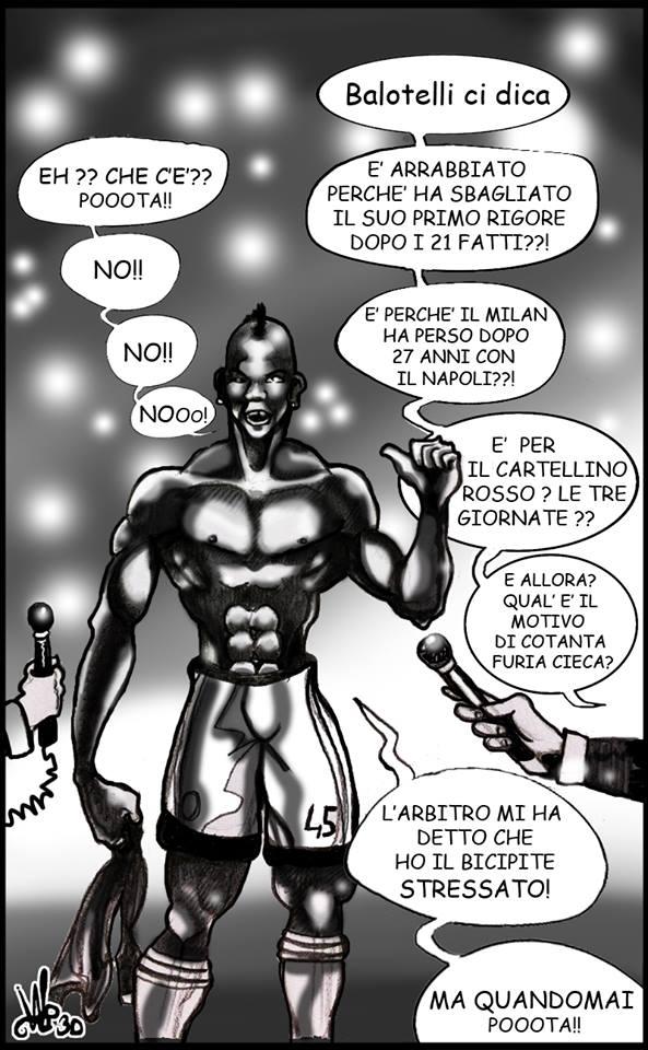 Mario Balotelli rivela il dialogo con l'arbitro dopo Milan-Napoli