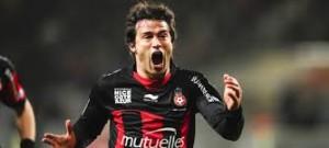 Dario Cvitanich in azione con la maglia del Nizza.