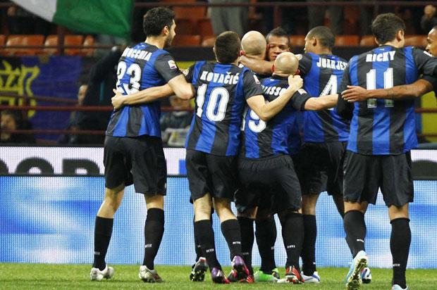 L'esultanza dell'Inter