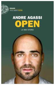 """copertina """"Open, la mia storia"""" edizione Einaudi stile libero"""