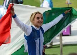 Jessica Rossi, vincitrice dell'oro ai mondiali di tiro al volo a Lima