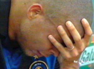 Il pianto di Ronaldo per lo scudetto perso
