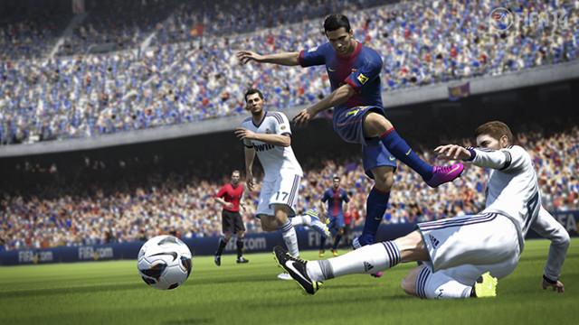 Calcio videogiocato: schermata di Fifa 14