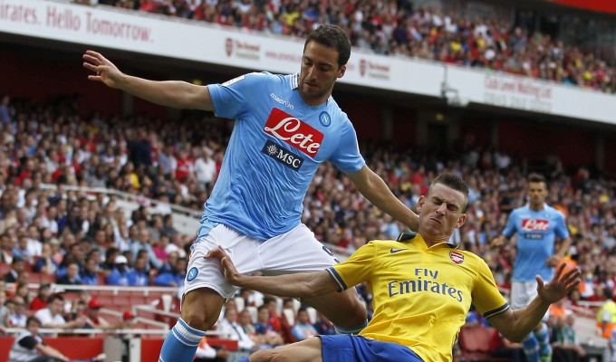 Napoli-Arsenal sfida decisiva per le speranze europee del Napoli