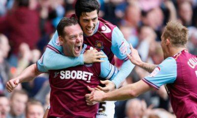Premier League: l'esultanza dei giocatori del West Ham