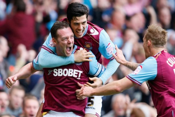 Premier League: l'esultanza dei giocatori del West Ham