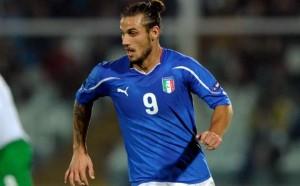 Osvaldo con la maglia della nazionale