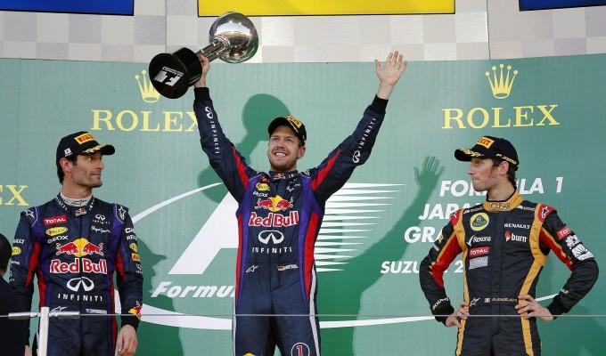 Podio Gp Giappone F1 2013