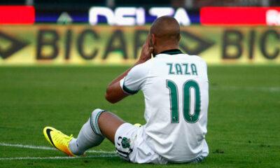 Simone Zaza, deludente come tutto il Sassuolo contro il Genoa.