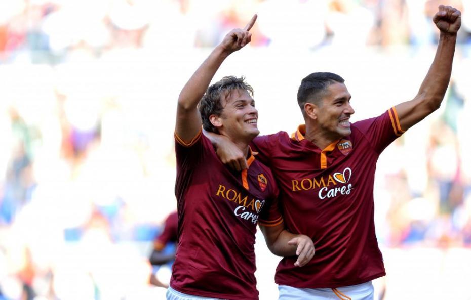 Marco Borriello sblocca Roma-Chievo col gol dell'1-0