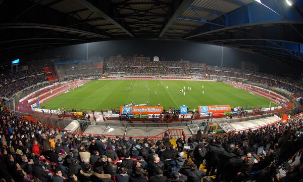 Lo stadio Massimino, teatro di Catania-Sassuolo