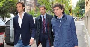 Stefano Mauri con i suoi legali