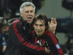 Ancelotti e Pirlo come padre e figlio