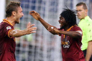 In foto: Francesco Totti e Gervinho