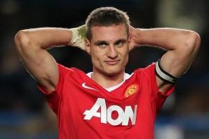 Nemanja Vidic, con la maglia del Manchester Utd