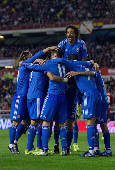 l'esultanza del Real Madrid