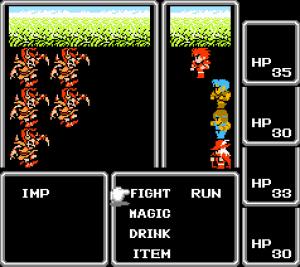Un'immagine del primo capitolo di Final Fantasy