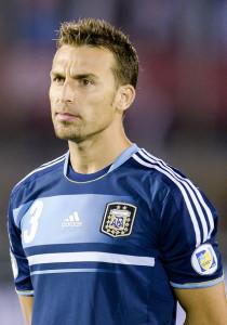 Hugo Campagnaro. difensore dell'Inter e della Nazionale argentina