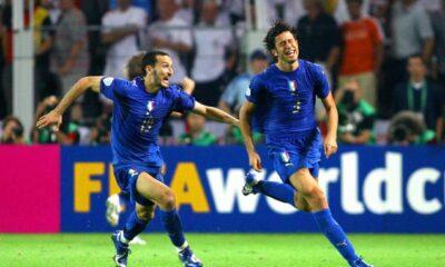 Italia-Germania nel Mondiale 2006, l'esultanza di Grosso