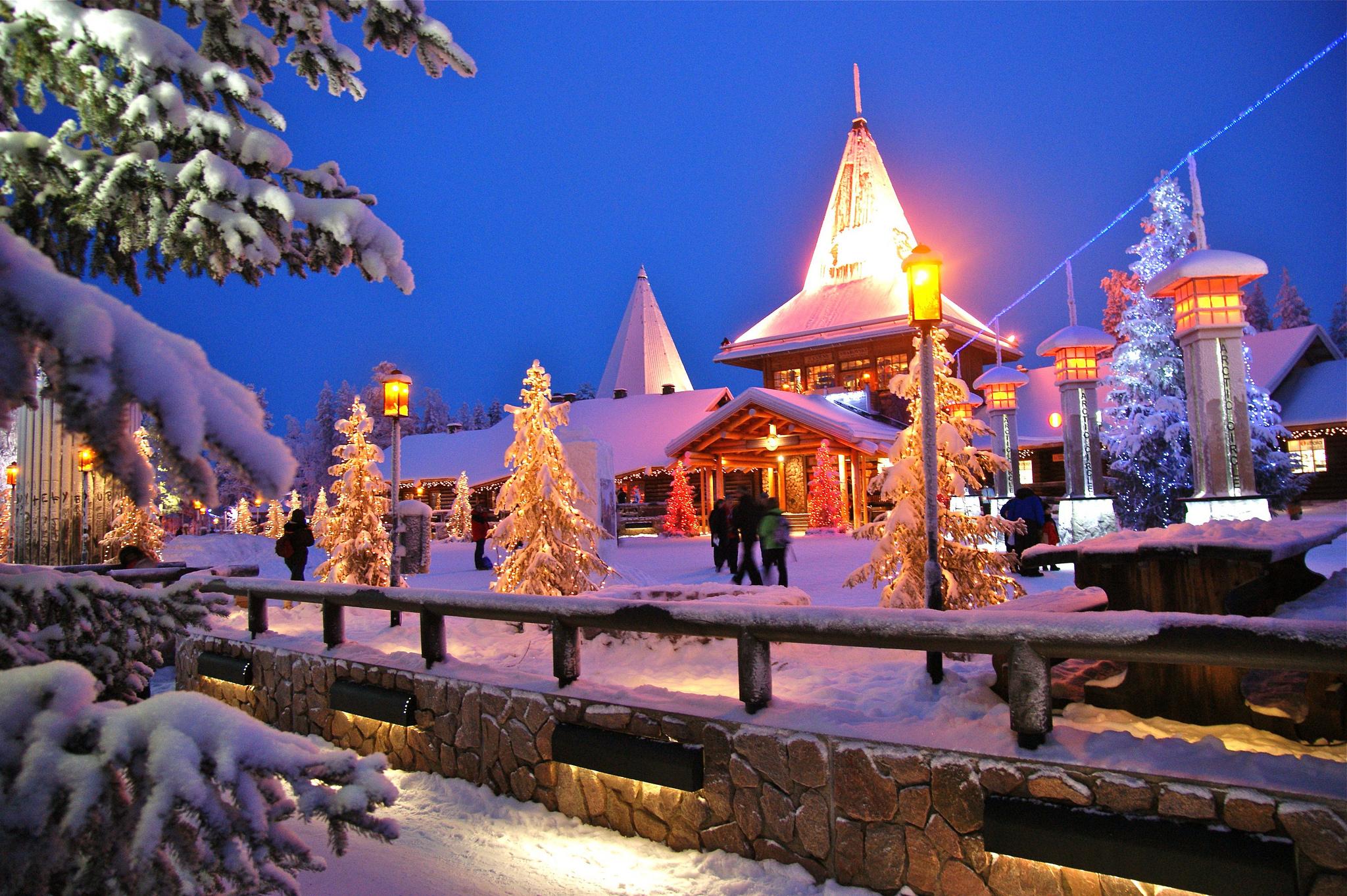 Rovaniemi Lapponia Babbo Natale.Rovaniemi Dicembre In Lapponia A Casa Di Babbo Natale