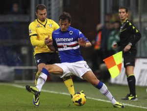 Sampdoria-Catania: Manolo Gabbiadini, attaccante blucerchiato