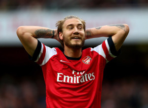 Nicklas Bendtner, attaccante dell'Arsenal Calciomercato