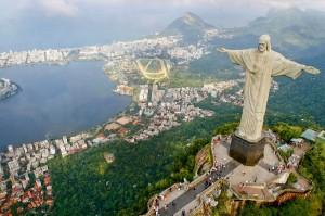 """Vista di Rio de Janeiro dal """"Cristo Redentore"""""""