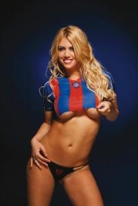 """Wanda-Maxi Lopez: la modella con la """"maglia"""" del Barça, ex club sia di Maxi che di Icardi"""