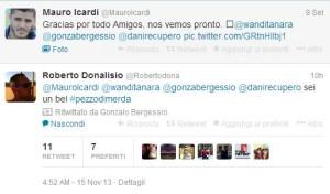 Wanda-Maxi Lopez: il retweet di Bergessio