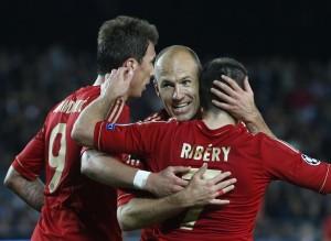 l'esultanza del Bayern Monaco