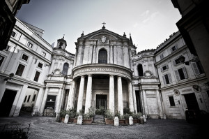 Chiostro del Bramante a Roma, luogo dove si svolge la mostra