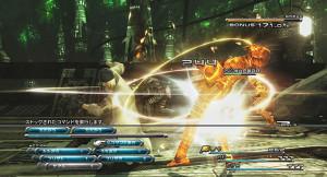 Una scena di combattimento su Final Fantasy XIII