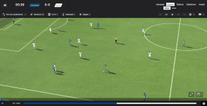 Un'azione di gioco su Football Manager 14