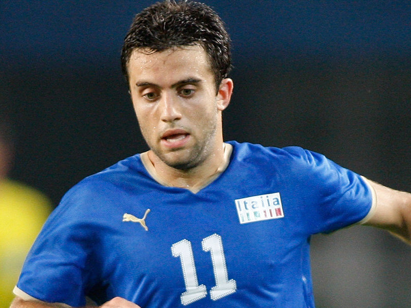 Giuseppe Rossi con la maglia dell'Italia