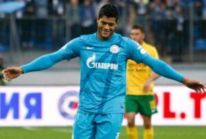 Hulk con la maglia dello Zenit
