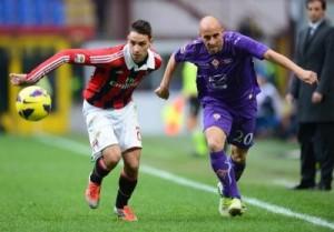 Milan-Fiorentina si affrontano al Meazza alle 20,45