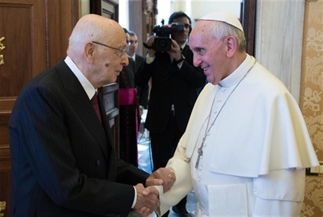 Papa Francesco e Giorgio Napolitano