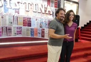Enrico Brignano e Serena Rossi, i protagonisti del Rugantino