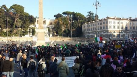 La protesta dei Forconi a Roma