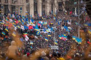 La protesta in Ucraina per il mancato ingresso nell'UE