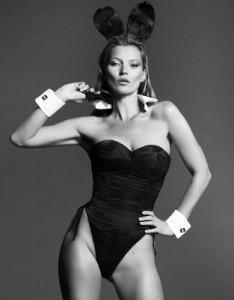 Kate Moss, protagonista assoluta della cover del numero speciale di Playboy di gennaio