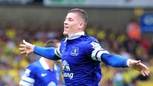 Ross Barkley ha segnato la rete dell'1-2 e ha lanciato l'Everton verso la vittoria.