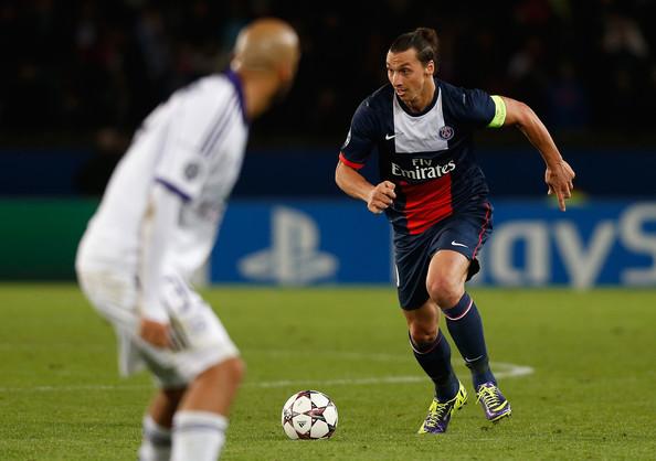 Ibtahimovic in azione con la maglia del PSG