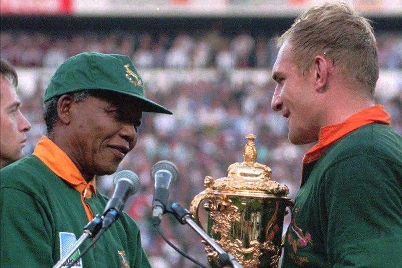 Nelson Mandela e Francois Pienaar