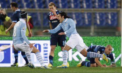 Lazio-Napoli: un'azione di gioco