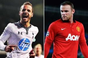 Roberto Soldado (Tottenham) e Wayne Rooney (Manchester United).