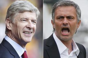 Arsene Wenger e Jose Mourinho, rivali per la supremazia cittadina e inglese in Premier League