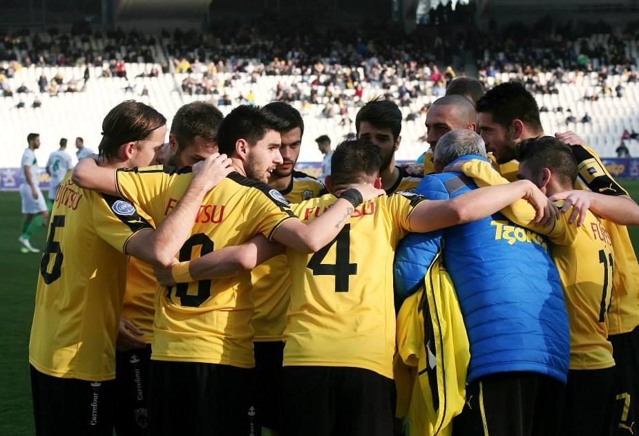 I giocatori dell'AEK Atene